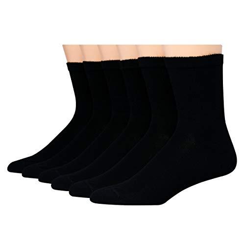 Hanes mens Max Cushion Double Tough Crew Socks, 12-pair Pack