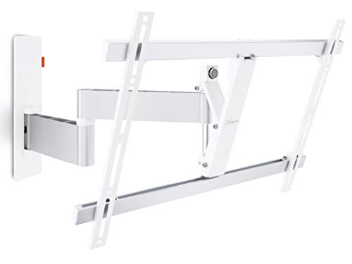 Vogels WALL 3345 Blanco, Soporte de Pared para TV 40 - 65 Pulgadas, Inclinable y Giratorio 180º, Máx 30 kg y con sistema VESA Máx. 600 x 400