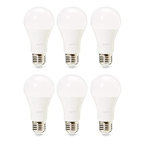 Amazon Basics Professional - Bombilla de tipo Edison LED, casquillo E27, equivalente a 100W, blanco frío - juego de 6