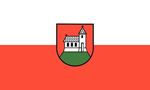 Unbekannt magFlags Tisch-Fahne/Tisch-Flagge: Kirchberg an der Murr 15x25cm inkl. Tisch-Ständer