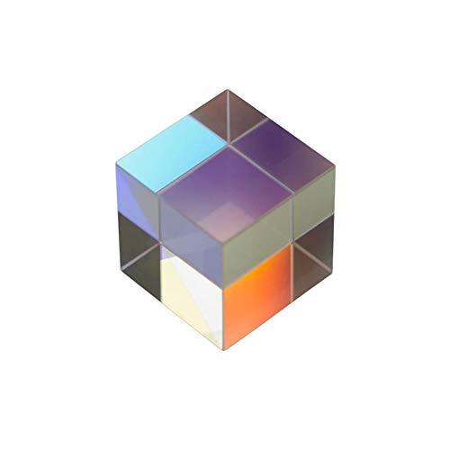 Quadratische Würfel Prisma, Refraktor Crystal Clear Prisma Optisches Glas Multi-Verwendung für Wissenschaft Unterricht Physikalischer Lektionen Lichtspektrum Reflect Fotografie Fensterdekoration,5*5*5