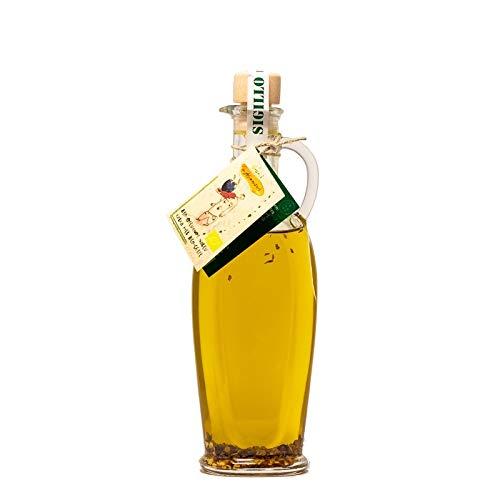 Scharfes Chili Öl, 100{cb0f9ceba1802329bbd699b6817e597d665c0cfe620fb66f3f1e6da3a0671b93} italienisches Bio Olivenöl nativ extra, mit süd-italienischen Bio Peperoni. Echtes extra vergine aus Kampanien, 250ml
