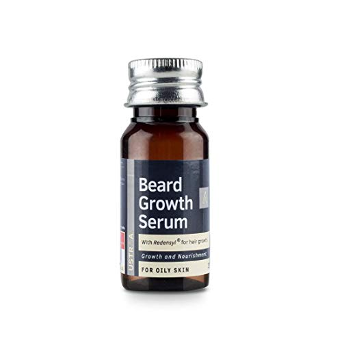 USTRAA Beard Growth Serum - For Oily Skin - 35ml - Beard growth for oily skin with Redensyl, Beard nourishment and moisturization especially made for oily skin