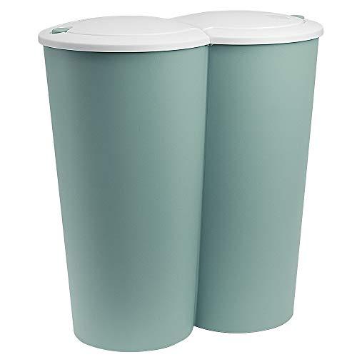 Mülleimer Duo grün 50L Abfalleimer...