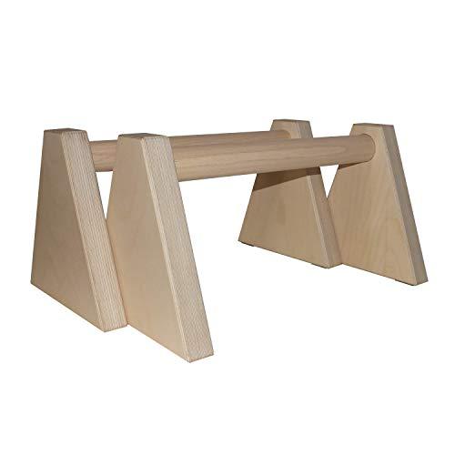Vyc Solutions Barras paralelas de Madera para calistenia, Soporte de Flexiones, Fondos, Handstand, Fitness, Gimnasia, Interior y Exterior Wooden parallettes Calisthenics Pushup Parallel Bars, dips