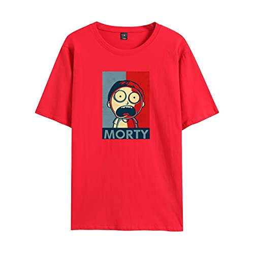 WFQTT Street Fashion T-shirt Rick and Morty Rick and Morty pour homme et femme XS rouge