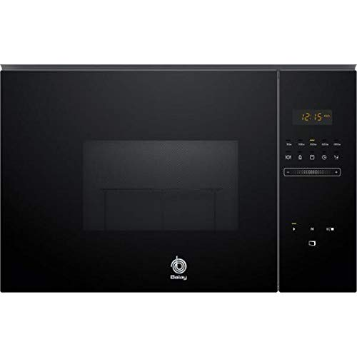 Balay 3CG5172N0 - Microondas integrable / encastre con grill, 800 W / 1000 W , color negro