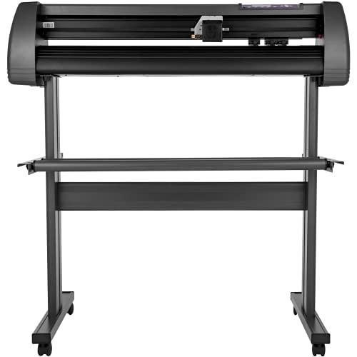 VEVOR Vinyl Cutter MachineU-Disk Offline, 720MM Vinyl Printer, 28 Inch Plotter Printer with Sturdy Floor Stand, Vinyl Cutting Machine Adjustable Force & Speed for Sign Making Plotter Cutter Machine