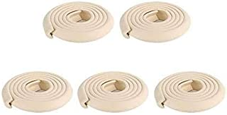 5 Pcs 2M L Shape Baby Safety Table Edge Corner Protector Guard Cushion Anti-collision Strip Bumper Strip, Beige