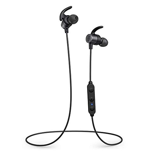 TaoTronics Cuffie Bluetooth 5.0 Auricolari Sportivi Wireless Magnetici aptX HD Audio 14 Ore di Riproduzione Cancellazione del Rumore CVC 8.0 Impostazioni EQ IPX7 impermeabile Microfono Integrato
