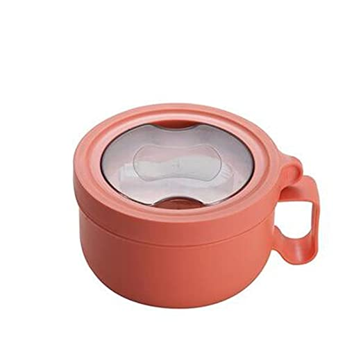 TFJJSQA Especial/Simple Caja de Almuerzo de Acero Inoxidable con Tapa de Fruta Ensalada de Fideos arroz bento Caja portátil Estudiante contenedor de Alimentos 0414 (Color : Red)