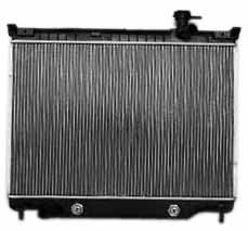 TYC 2458 Compatible with CHEVROLET/GMC 1-Row Plastic Aluminum Replacement Radiator