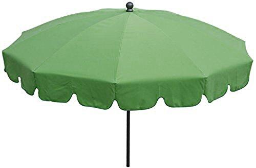 PEGANE Parasol Rond centré Coloris Vert - Dim : H 230 x D 200/10 cm