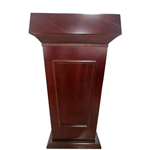 TnSok Stehendes Podium Hölzerne sprechende Vorträge mit Schublade und großer Lagerbereich Sprechen Vorlesung Podium Heavy Duty Commercial Podium (Color : Brown, Size : 70x50x116cm)