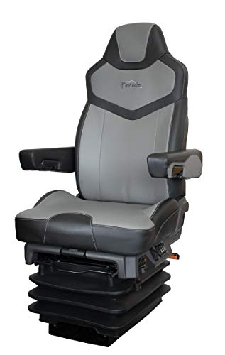 Seats Inc. - Pinnacle Black/Gray Duraleather Air Ride Seat Illinois