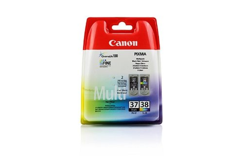 Canon Pixma IP 2600 (PG-37 CL 38 / 2145 B 009) - original - (schwarz, cyan, magenta, gelb) - 207 Seiten