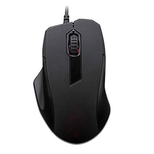 STBAAS Ratón inalámbrico, ratón de la computadora del Receptor 3 del botón ergonómico Vertical Negro 1000 dpi con Cable USB
