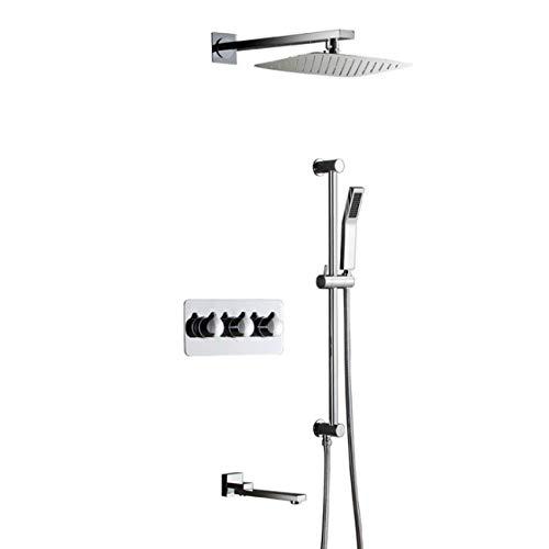 ZGYQGOO Set Sistema Ducha, Mezclador Oculto para baño Set