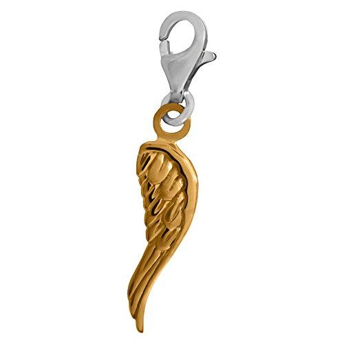 THOMAS SABO Flügel/Engelsflügel Charm Anhänger Silber goldfarben 0958-413-12