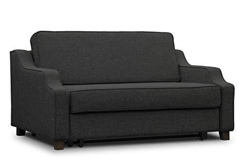 ES Design 08 Slaapbank uittrekbaar ligvlak 100x200 cm 5 jaar garantie Beige Melange Bruin Grijs Zwart houten poten grijs