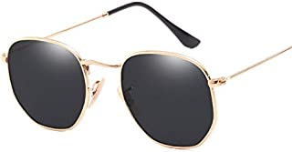Vintage Retro Metal Style Sunglasses Hexagonal Flat Lenses Glasses Oculos De Sol Shades UV Protection-xsq