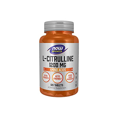 NOW Sports Nutrition, L-Citrulline, Extra Strength 1200 mg, Amino Acid, 120 Tablets (0116)