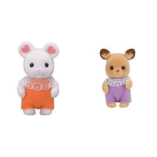 シルバニアファミリー 人形 マシュマロネズミの赤ちゃん ネ-107 & シルバニアファミリー 人形 シカの赤ちゃん シ-68【セット買い】