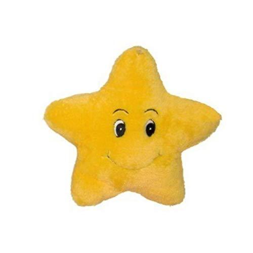 Beppe Plüschstern Grosses Plüschtier Stern XL ideales Stofftier Geschenk Star Glücksstern in Gelb niedliches Kuscheltier für Kinder und Baby Kinderbett Plüschkissen Kissen Auflage