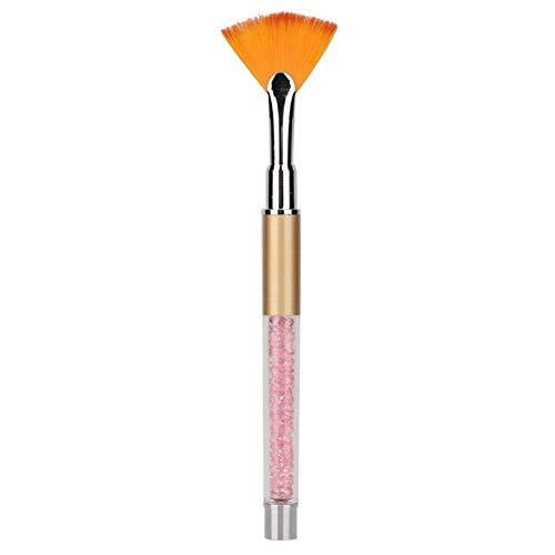 Herramienta de manicura de cerdas suaves, Nail Art Pen, para salón de belleza en casa(Golden crystal rod)