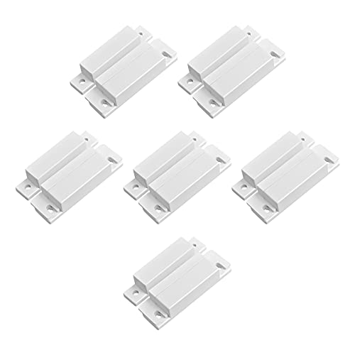 TOWODE Lot of 6 Wired Magnetic Door Window Contact Reed Switch Personal Gap Alarm - Cabinet Strip Light Switch NC DIY Kit