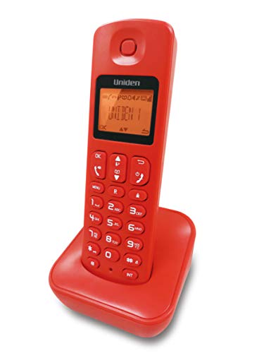 UNIDEN JAPAN AT3100 Cordless LANDLINE Telephone with Caller ID, Hands-Free Speaker Phone, 50 Name/Number Phone-Book Memory, Illuminated Display (RED)
