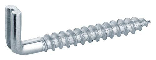 haggiy Schraubhaken gerade mit Schlitz | 25 Stück | Hakenschraube galvanisch verzinkt, Wandhaken, 5,8 x 50 mm