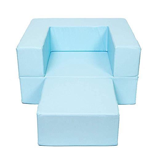 Busirsiz nórdico Living Room Chair Cojines, Niño pequeño Sofá Silla (Stool Tipo) Lavable, Caja Fuerte nonSoft Espuma de Muebles for el bebé for -Bule Relajante Juego Lounging