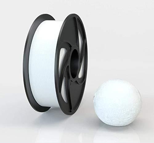 Impresora 3D y bolígrafos filamento PLA puro 1KG 1,75mm de diámetro, color (blanco)