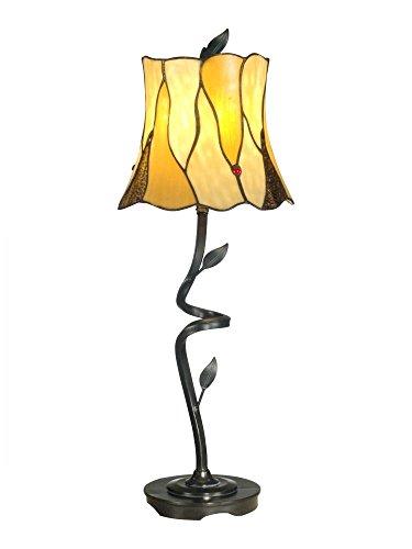 "Dale Tiffany TB11030 Twisted Leaf Buffet Lamp, 9.75"" x 9.75"" x 25.5"", Bronze"