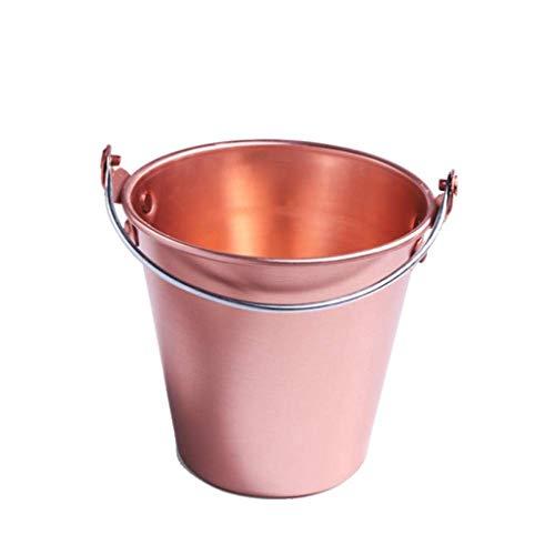 XJJZS Seau à Glace, en Acier Inoxydable - Seau à Glace - Boisson métal Cooler - House Party - Poignées Petit conteneur (Size : 1.2L)