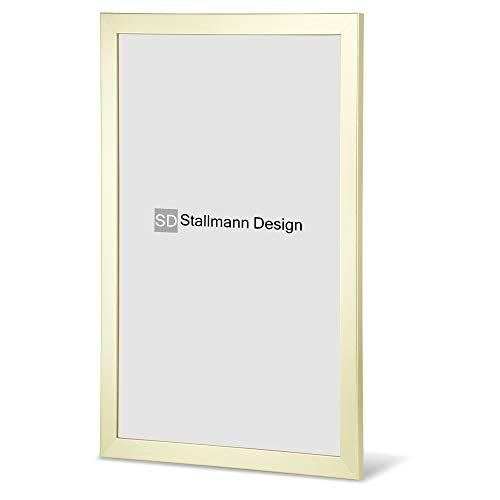 Stallmann Design Fotolijst New Modern 10x15 cm wit frame voor Dina 4 en 60 andere formaten fotolijst wissellijst van hout MDF meerdere kleuren selecteerbaar frame voor foto's of foto's modern 20 x 50 cm Goud metaal.