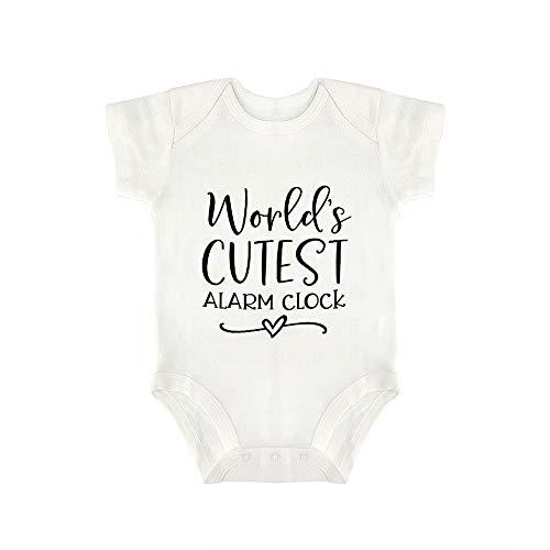 Promini Lindo bebé Onesie World's más lindo reloj despertador bebé mono bebé una pieza mameluco mejor regalo para bebé