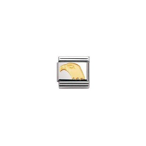 Nomination Composable Classic Tiere - Luft Edelstahl und 18K-Gold (Adlerkopf) 030114