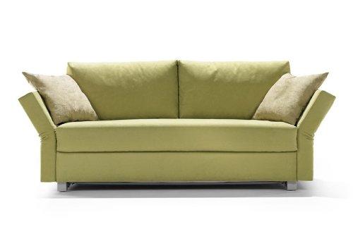 Schlafsofa Cuba, 142x200cm, Sofa mit Schlaffunktion von Signet - apfelgrün