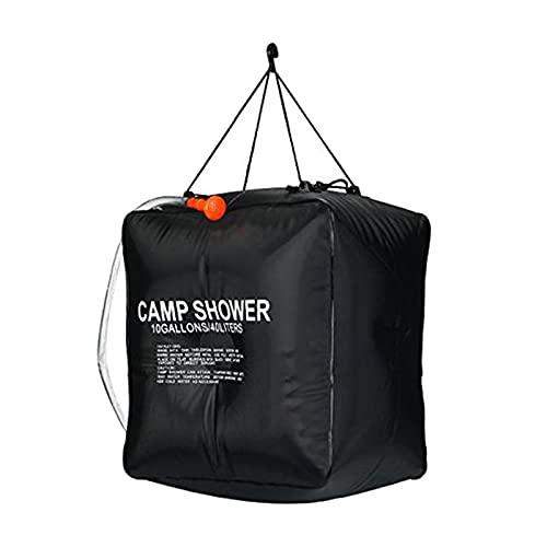 Milageto Bolsa de Ducha de Campo Portátil 40L Bolsa de Ducha de Camping con Calefacción Natural Al Aire Libre