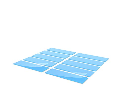 Silicone Thermal Pad, Excellent Alternative to Thermal Paste or Thermal Grease,6.0W/mk, Plasticity, Slight Viscosity, Insulation,Soft, Cooling SSD CPU GPU LED IC Chipset 20 67 1mm Blue(10 pcs)