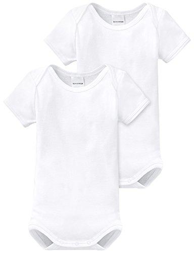Schiesser - Body para bebé, pack de 2, Blanco (100-weiss ), 24 meses (92)
