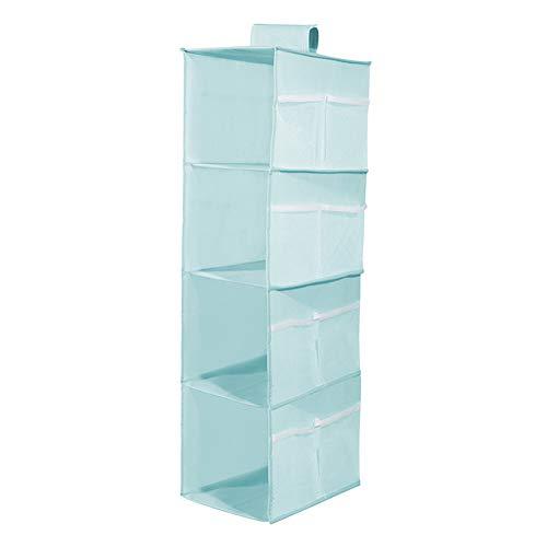 Lirex - Organizador de armario con 4 estantes, organizador de armario de 4 niveles, tela Oxford, colgador de almacenamiento de ropa con 12 bolsillos laterales de malla para el...