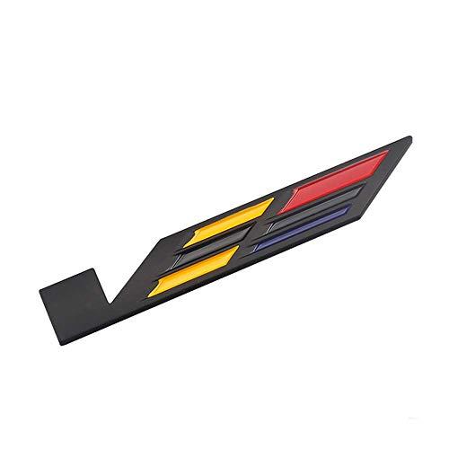 RIMEI Etiqueta engomada de la Etiqueta engomada de la Insignia del Emblema del Maletero del Emblema del Estilo del reacondicionamiento del Coche 3D para Cadillac, Plata Insignia (Color : Black)