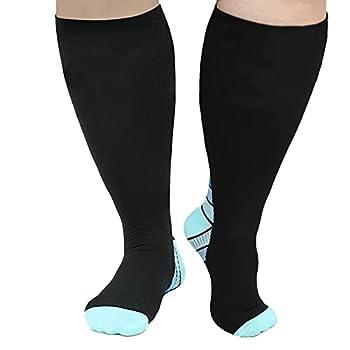 Plus Size Compression Socks for Women & Men Circulation 20-30 mmhg Support Prevent Swelling Breathable XXL XXXL XXXXL