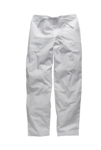 Dickies Workwear Medical Bundhose M mit Kordelzug Schlupfhose Damen und Herren weiß