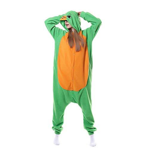 FZH Animal Kigurumis Onesies Ropa de Dormir para Adultos Dibujos Animados Elefante Amarillo Mujer Pijama Invierno Homewear Mono Pijama Traje Mujer Mamelucos-Tortuga Verde_Metro