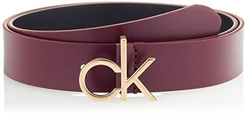 Calvin Klein CK Low Fix Belt 30MM Juego de accesorios de invierno, Vino, 85 para Mujer