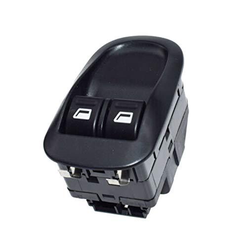 SHENG Interruptor De La Ventana Delantera del Coche Interruptor Eléctrico Master Button Control Fit para Peugeot 206 306 6554.WQ (Color : Black)